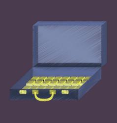 flat shading style icon case of money vector image