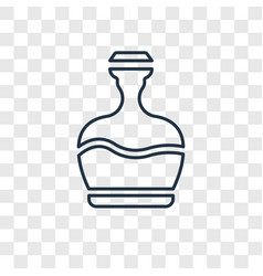 Fountain jar concept linear icon isolated on vector