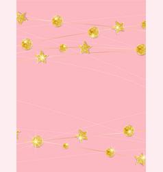 gold polka dot decoration vector image
