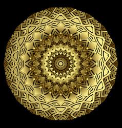 Greek round 3d mandala pattern abstract tribal vector