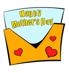 Greeting card for mother day icon cartoon vector