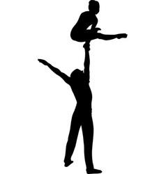Gymnasts acrobats circus vector