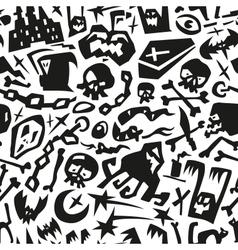 Halloween - seamless background vector