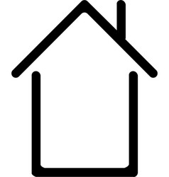 Home button house line icon vector