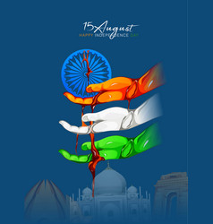 Independence day 15th aug vector