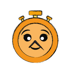 kawaii stopwatch vector image
