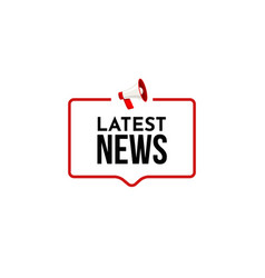latest news breaking report daily newspaper or vector image