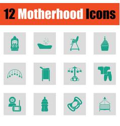 motherhood icon set vector image