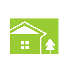 natural green house box vector image