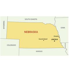 nebraska - state usa vector image