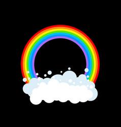 rainbow and cloud isolated rainbows circle vector image