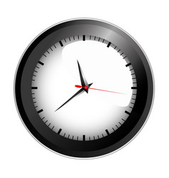 Realistic graphic of black wall clock vector