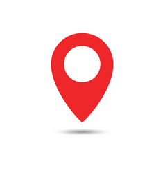 red maps pin location map icon location pin pin vector image