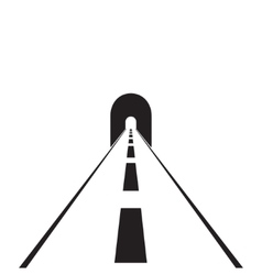 Road with tunnel web flat icon vector