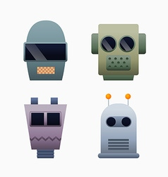 Robots heads vector image