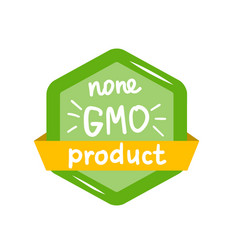 round green label with text non gmo product vector image