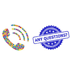 Rubber any questions question stamp seal vector