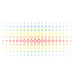 ruby ring spectrum halftone array vector image