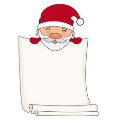 santa claus with blank sheet for text vector image