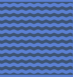Seamless blue wave pattern background vector