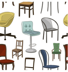 set chairs pattern vector image