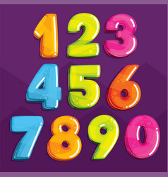 set color numbers vector image
