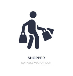 Shopper icon on white background simple element vector