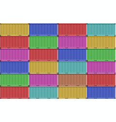 stack colorful containers for shipping vector image