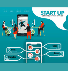 start up is developing application programmer vector image