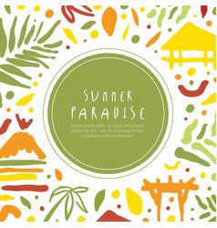 summer paradise banner template tropical vacation vector image