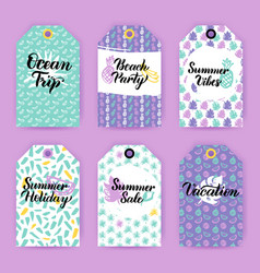 summer trendy gift labels vector image