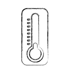 Thermometer cold temperature vector