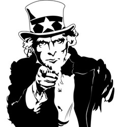 uncle sam eps 10 vector image
