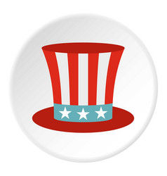 Uncle sam hat icon circle vector