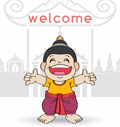 Welcome to Songkran Festival Thailand vector