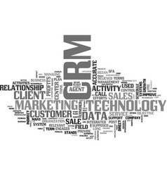 What is crm text word cloud concept vector