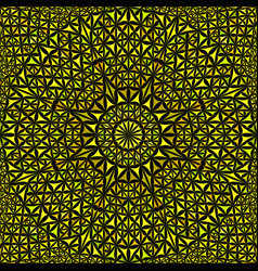 yellow seamless kaleidoscope pattern background vector image