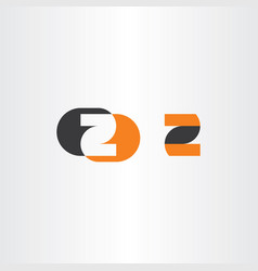 z logotype black orange icon symbol vector image