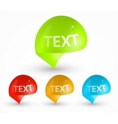 Bright Speech Bubble Design vector image