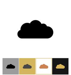 cloud icon bubbles clouds shapes vector image vector image