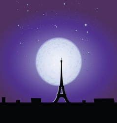 Eiffel Tower in the moonlight vector image vector image