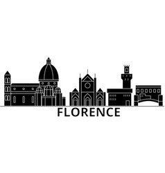 florence architecture city skyline travel vector image