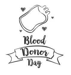 World blood donor day design hand draw vector