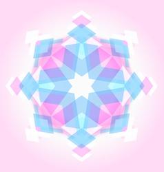 Abstract geometric snowflak vector image