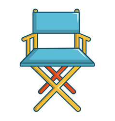 cinema director chair icon cartoon style vector image