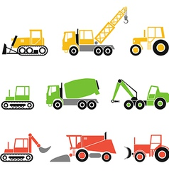 Collection of modern technics silhouettes vector image vector image