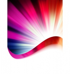 color rays vector image vector image