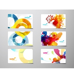 Set of abstract colorful splash and circle gift vector image vector image