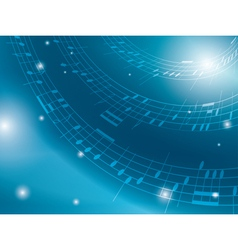 blue background with musical notes vector image