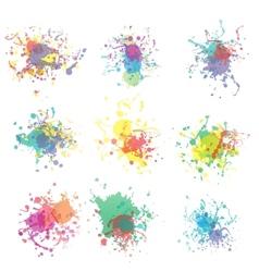 Colorful paint splashes on white plus EPS10 vector image